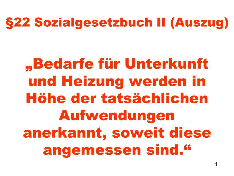 §22 Sozialgesetzbuch II (Auszug)