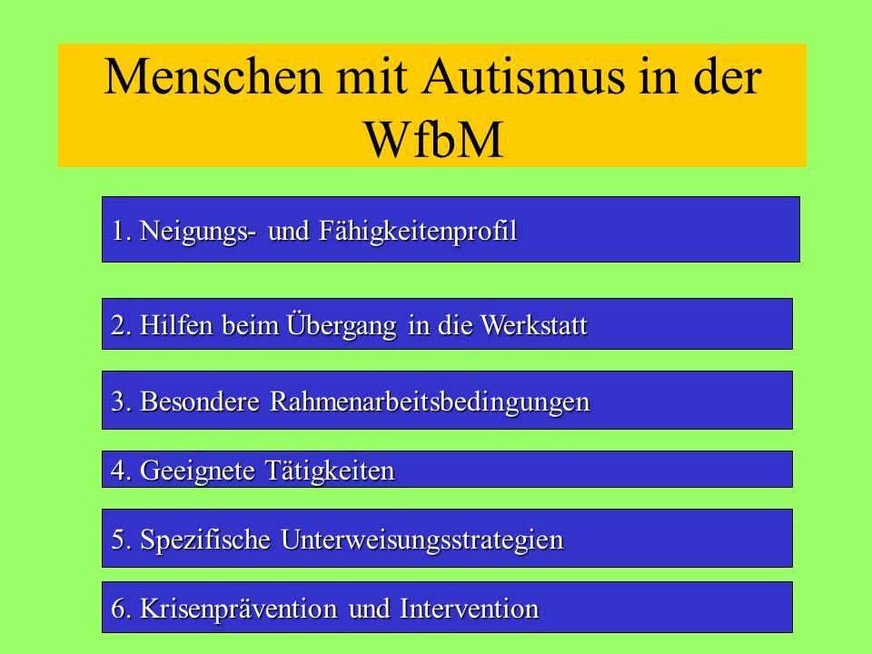 Menschen mit Autismus in der WfbM