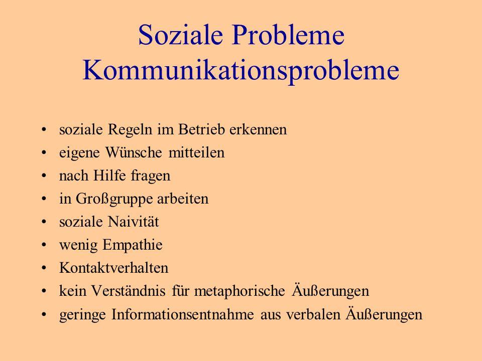 Soziale Probleme Kommunikationsprobleme