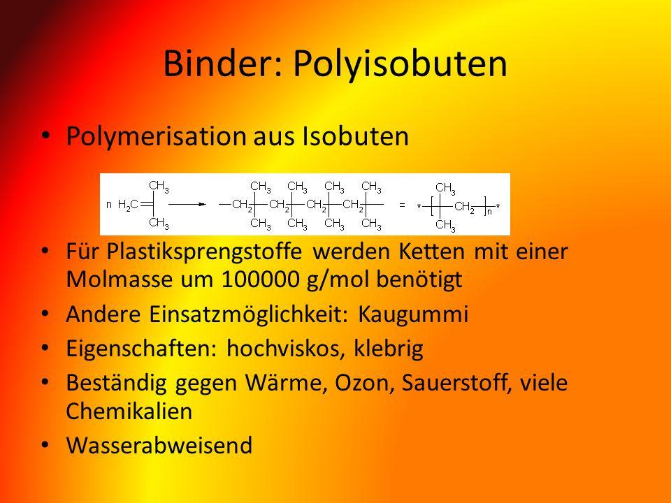 Binder: Polyisobuten Polymerisation aus Isobuten