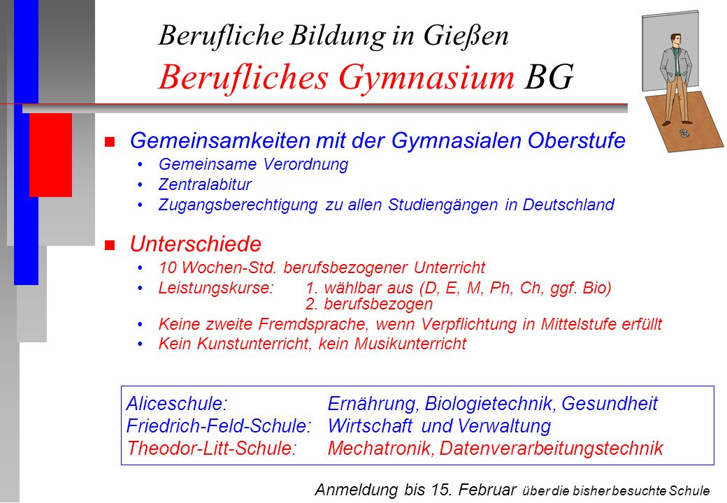 Berufliche Bildung in Gießen Berufliches Gymnasium BG