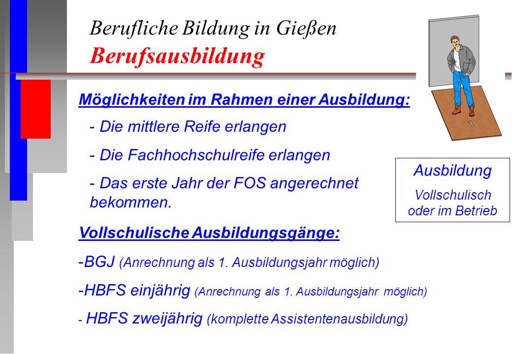 Berufliche Bildung in Gießen Berufsausbildung