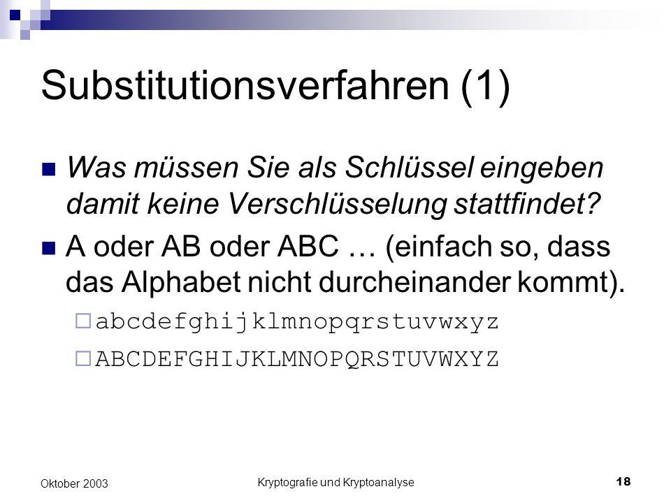 Substitutionsverfahren (1)