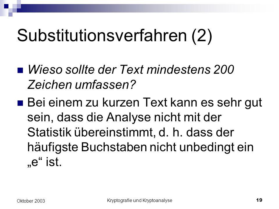 Substitutionsverfahren (2)