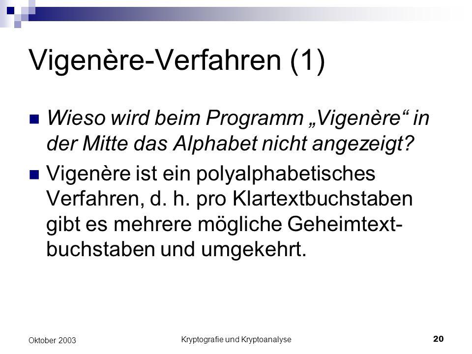 Vigenère-Verfahren (1)
