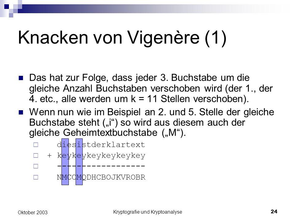 Knacken von Vigenère (1)
