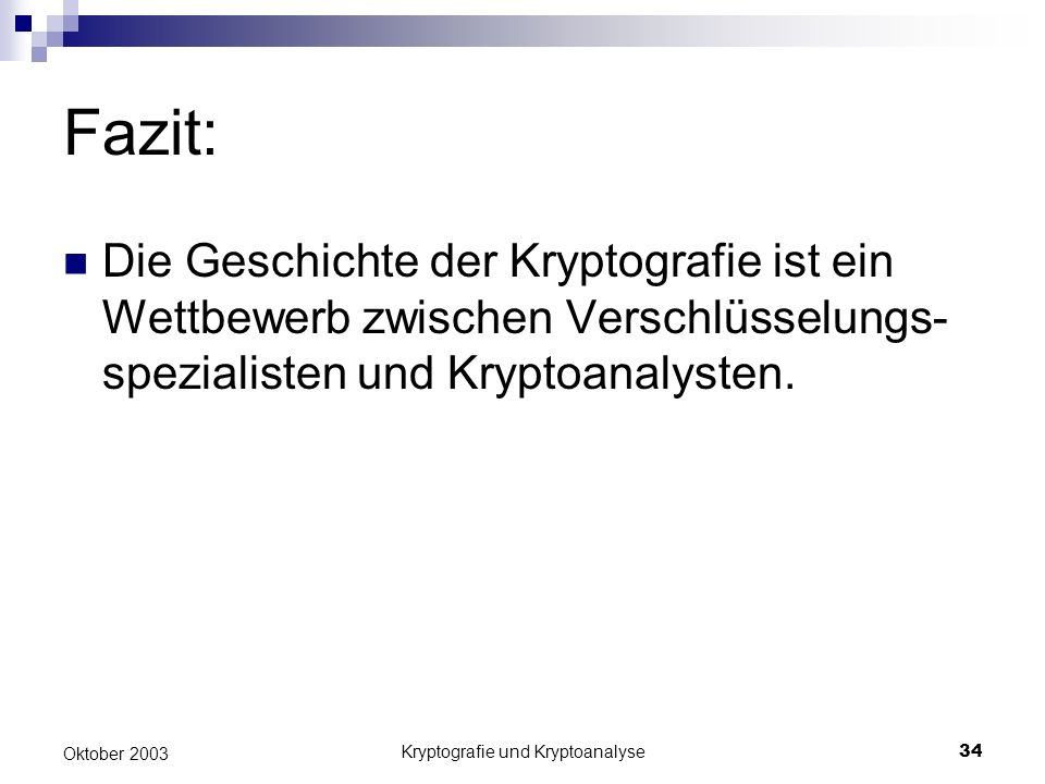 Kryptografie und Kryptoanalyse