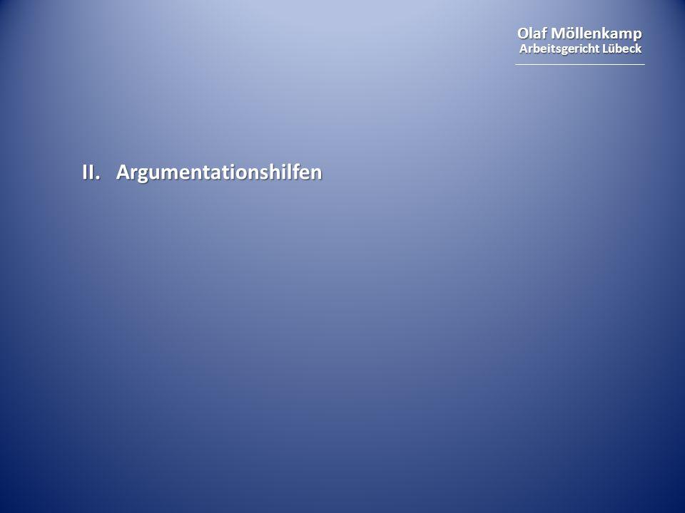 II. Argumentationshilfen