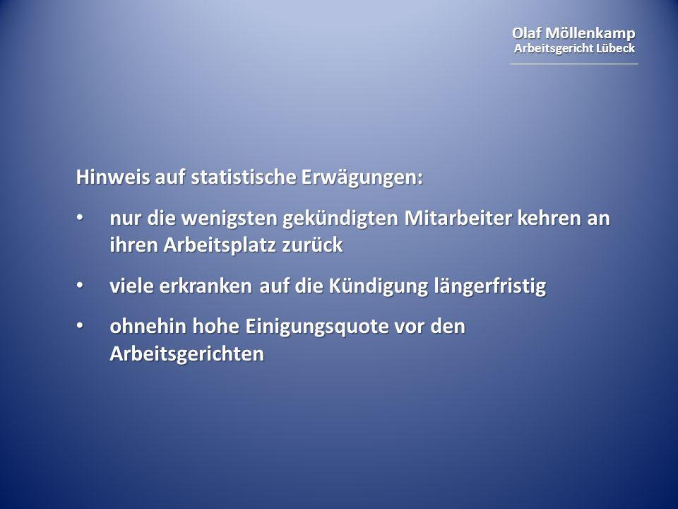 Hinweis auf statistische Erwägungen: