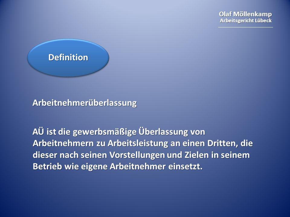 Definition Arbeitnehmerüberlassung.