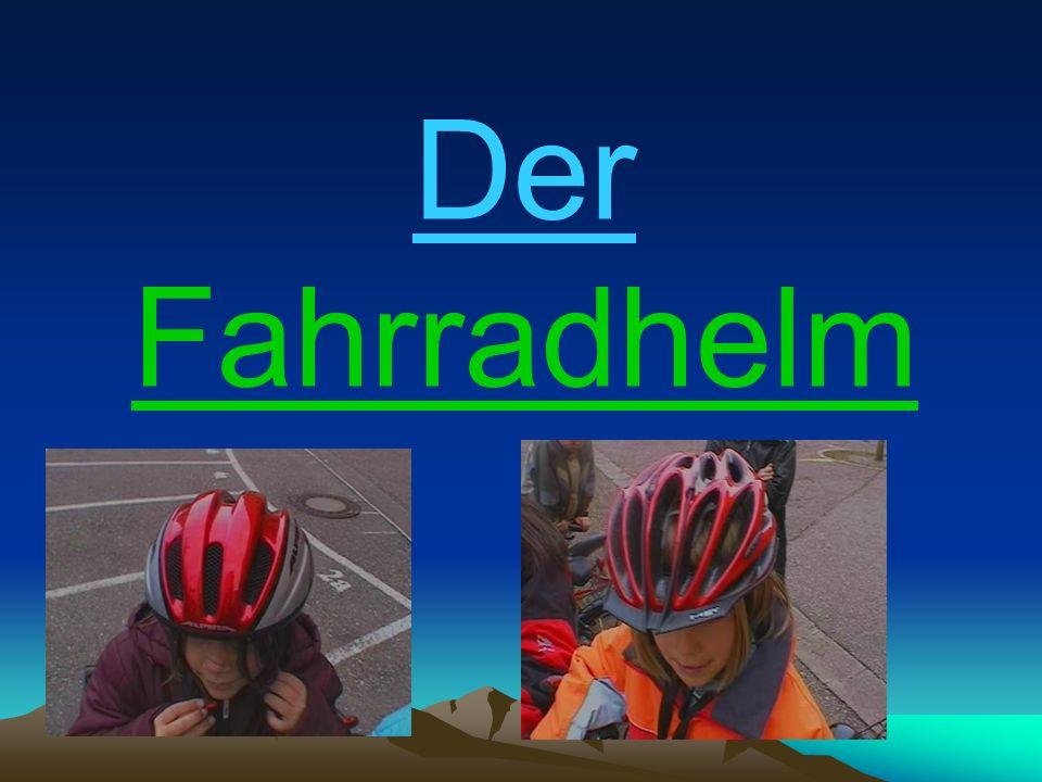 Der Fahrradhelm