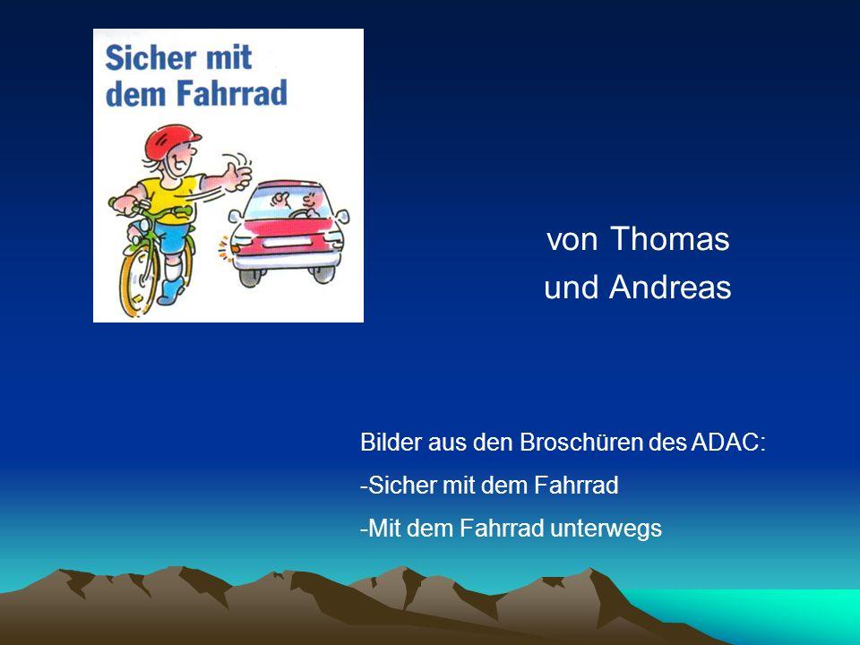 von Thomas und Andreas Bilder aus den Broschüren des ADAC: