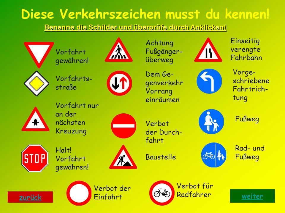 Diese Verkehrszeichen musst du kennen!