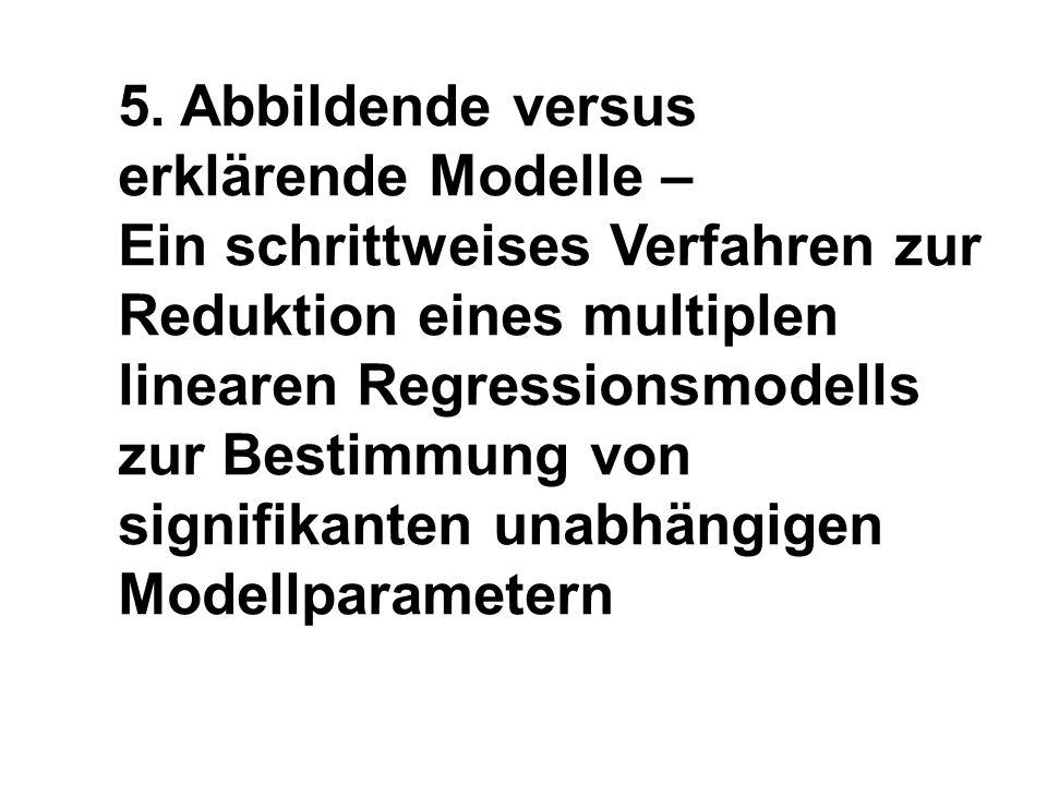 5. Abbildende versus erklärende Modelle –
