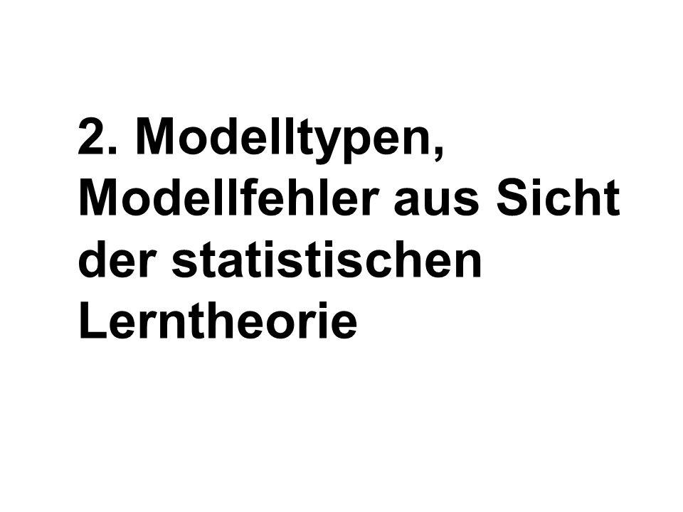2. Modelltypen, Modellfehler aus Sicht der statistischen Lerntheorie