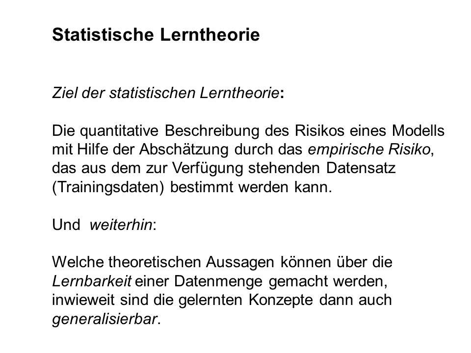 Statistische Lerntheorie