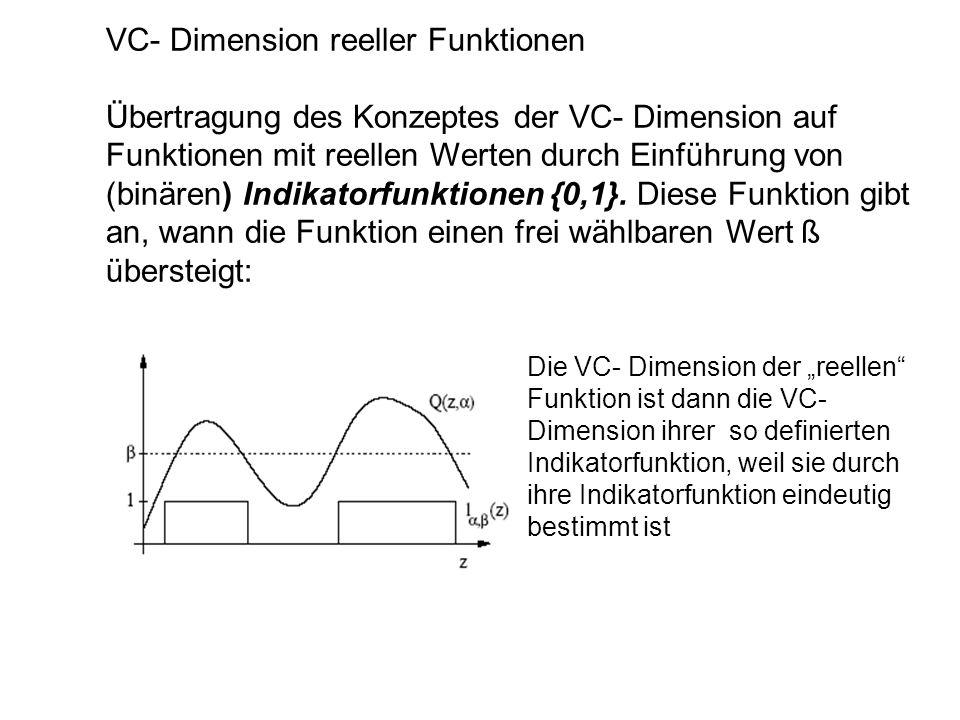 VC- Dimension reeller Funktionen