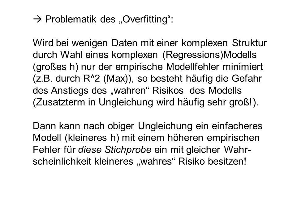 " Problematik des ""Overfitting :"