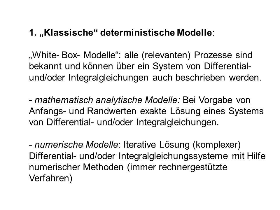 """1. """"Klassische deterministische Modelle:"""