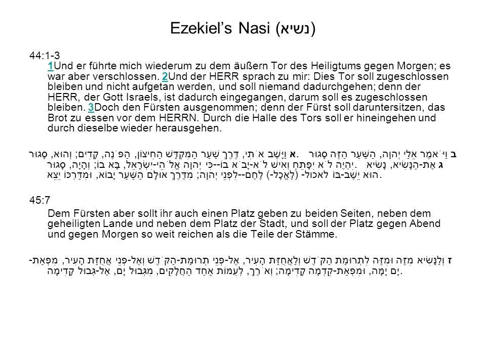 Ezekiel's Nasi (נשיא)