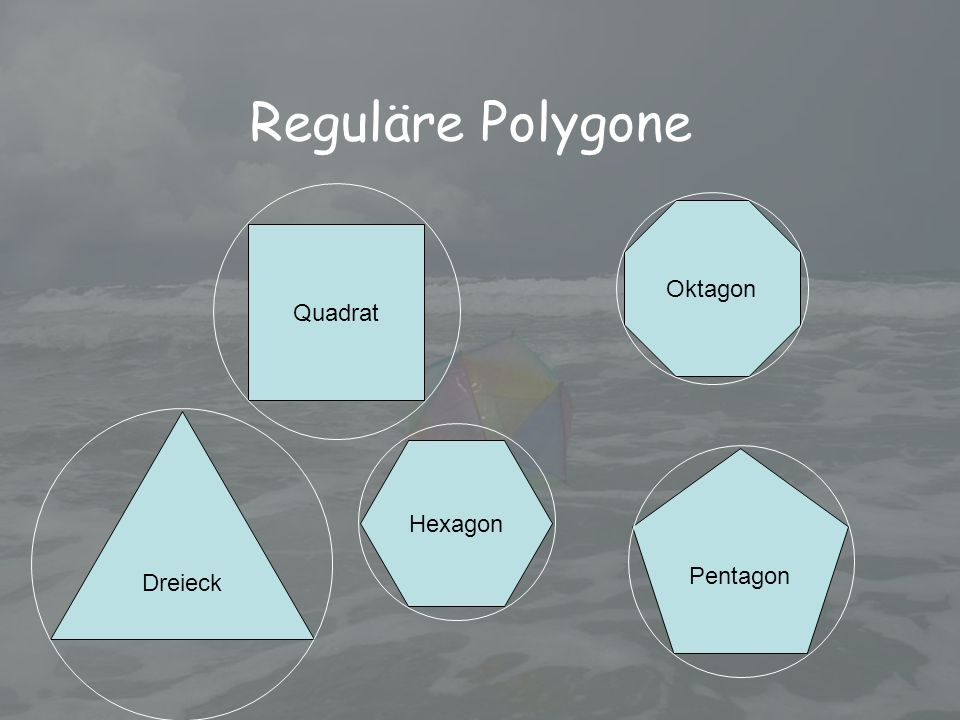 Reguläre Polygone Oktagon Quadrat Dreieck Hexagon Pentagon