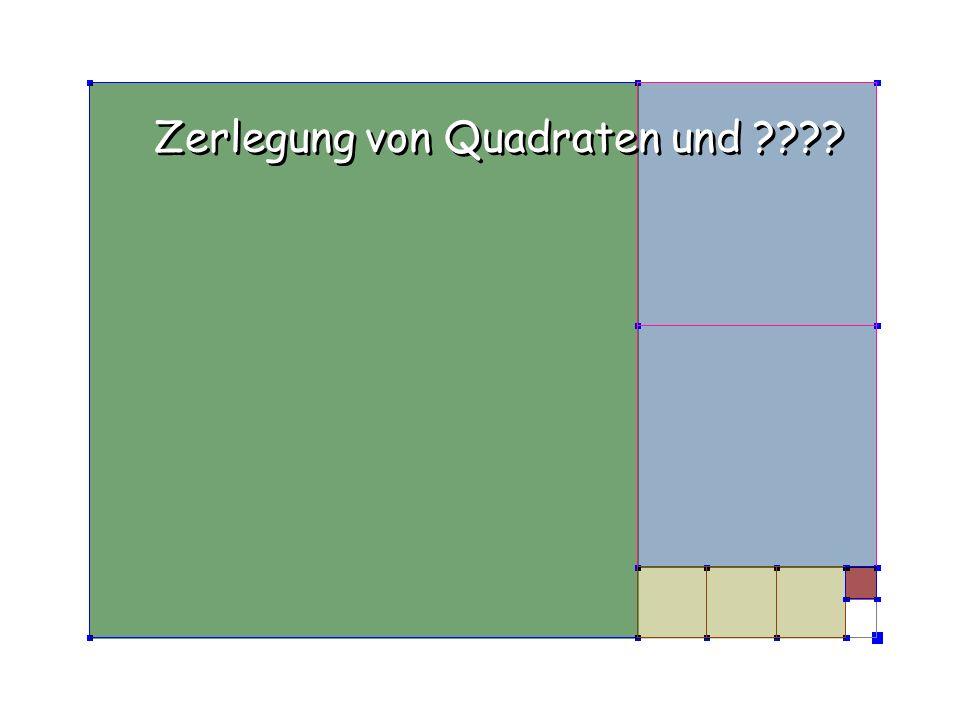 Zerlegung von Quadraten und