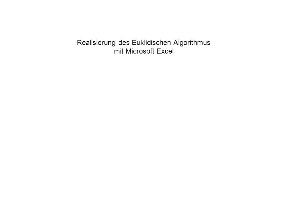 Realisierung des Euklidischen Algorithmus