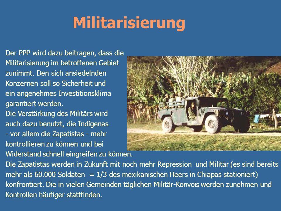 Militarisierung Der PPP wird dazu beitragen, dass die