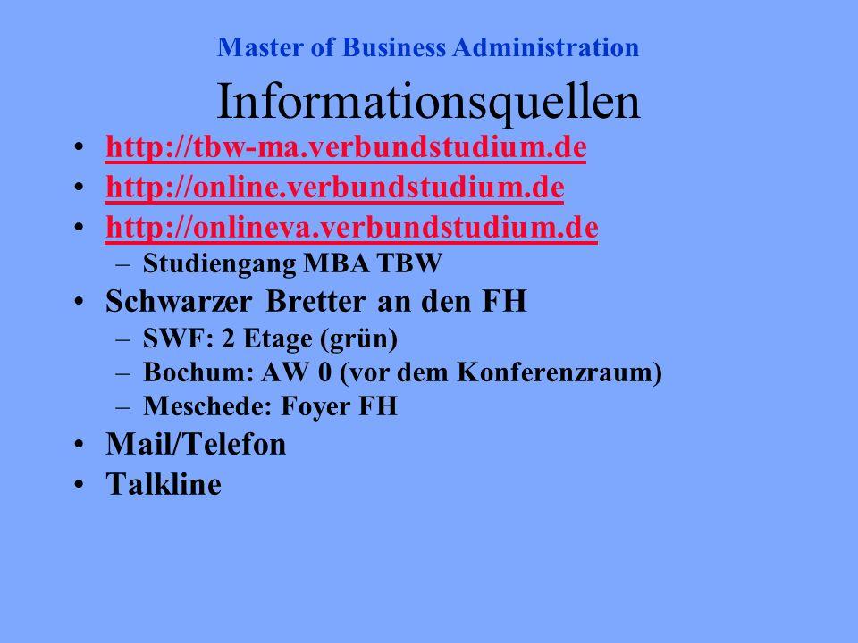 Informationsquellen http://tbw-ma.verbundstudium.de