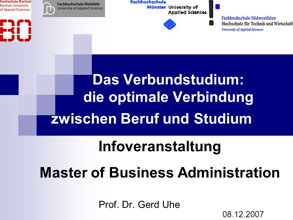 Das Verbundstudium: die optimale Verbindung zwischen Beruf und Studium