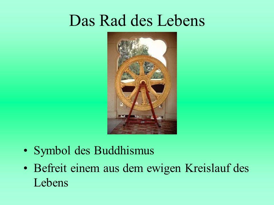 Das Rad des Lebens Symbol des Buddhismus