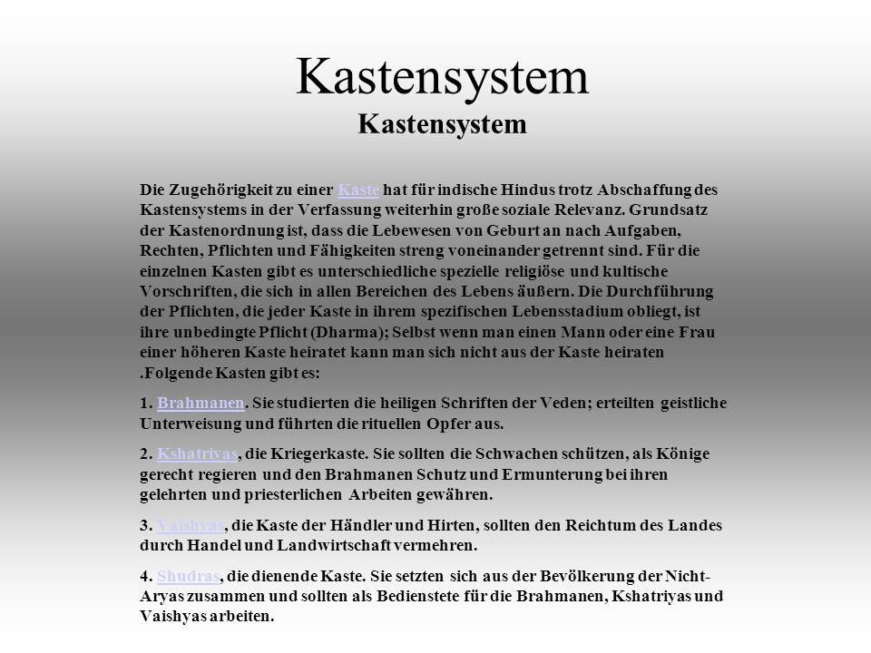 Kastensystem Kastensystem