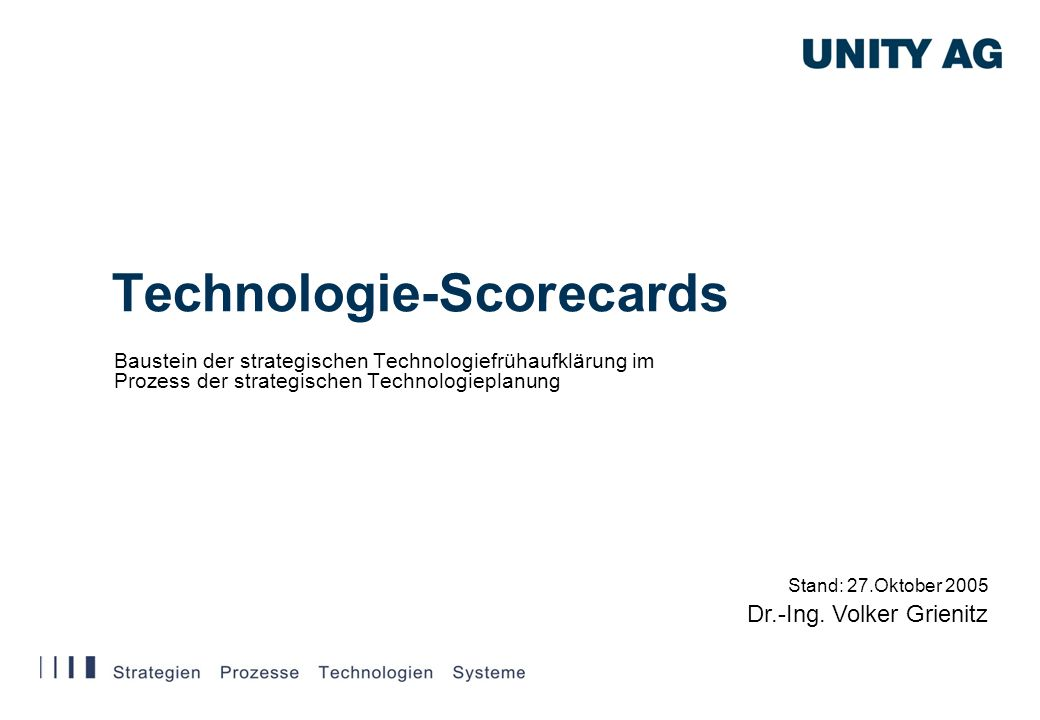 Technologie-Scorecards