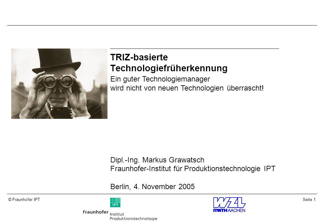 TRIZ-basierte Technologiefrüherkennung