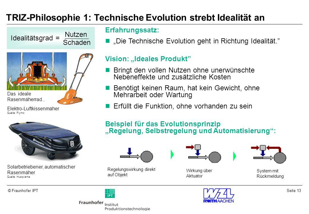 TRIZ-Philosophie 1: Technische Evolution strebt Idealität an