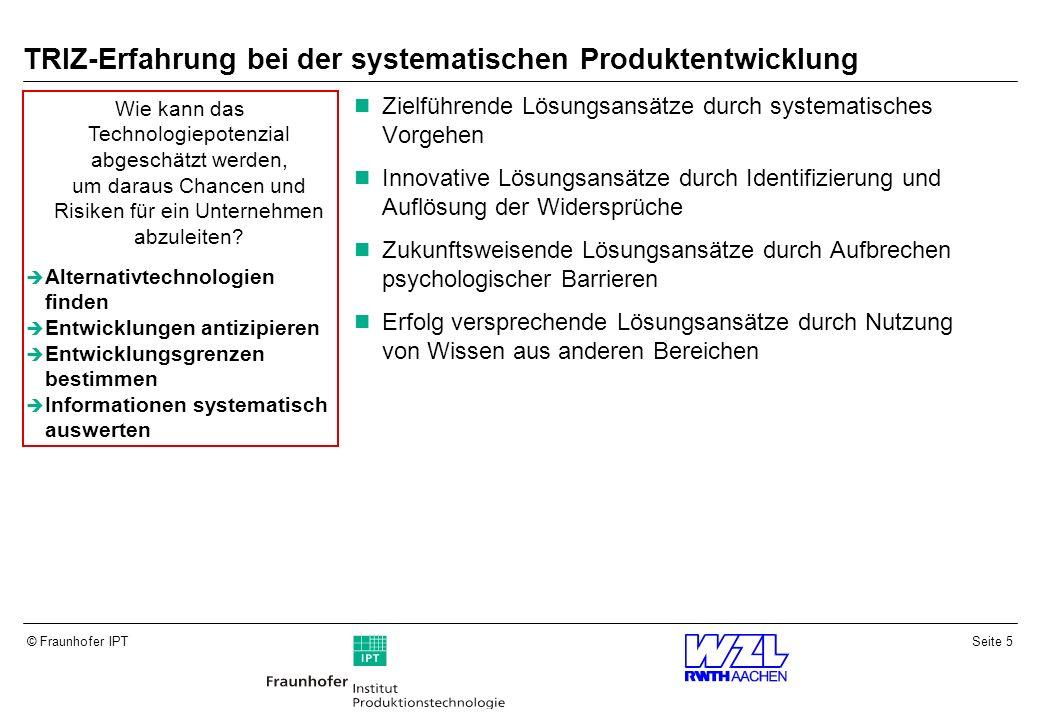 TRIZ-Erfahrung bei der systematischen Produktentwicklung