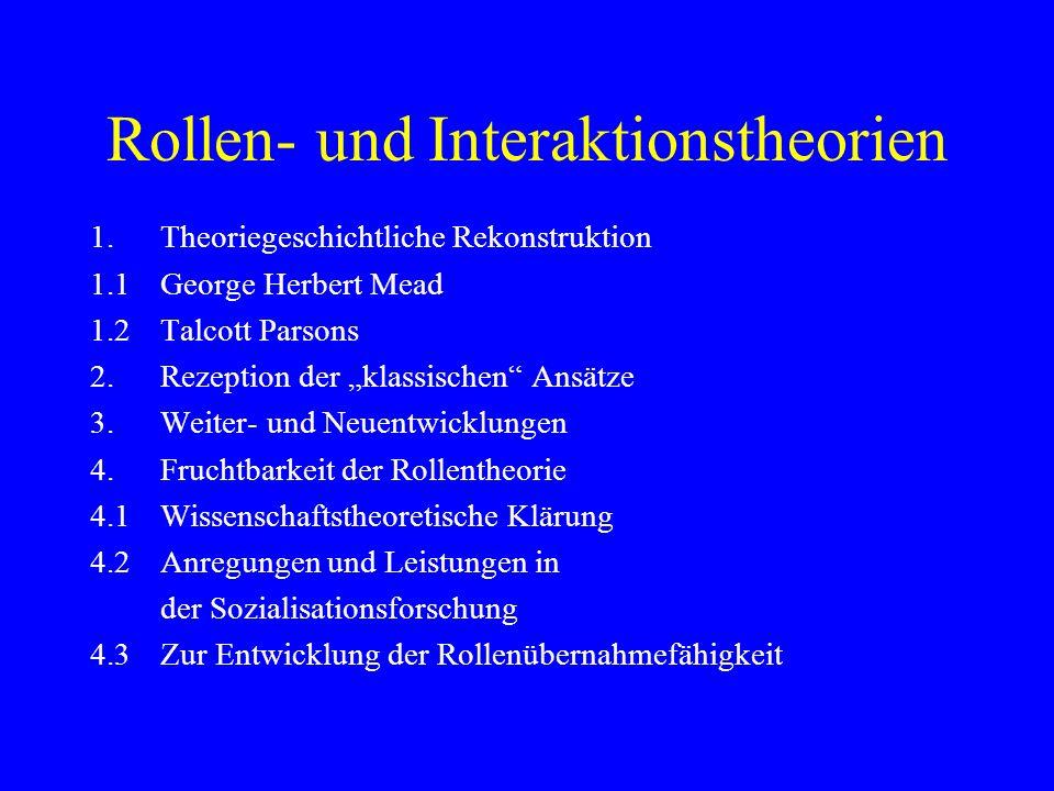 Rollen- und Interaktionstheorien