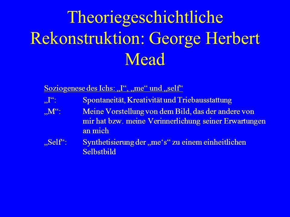 Theoriegeschichtliche Rekonstruktion: George Herbert Mead