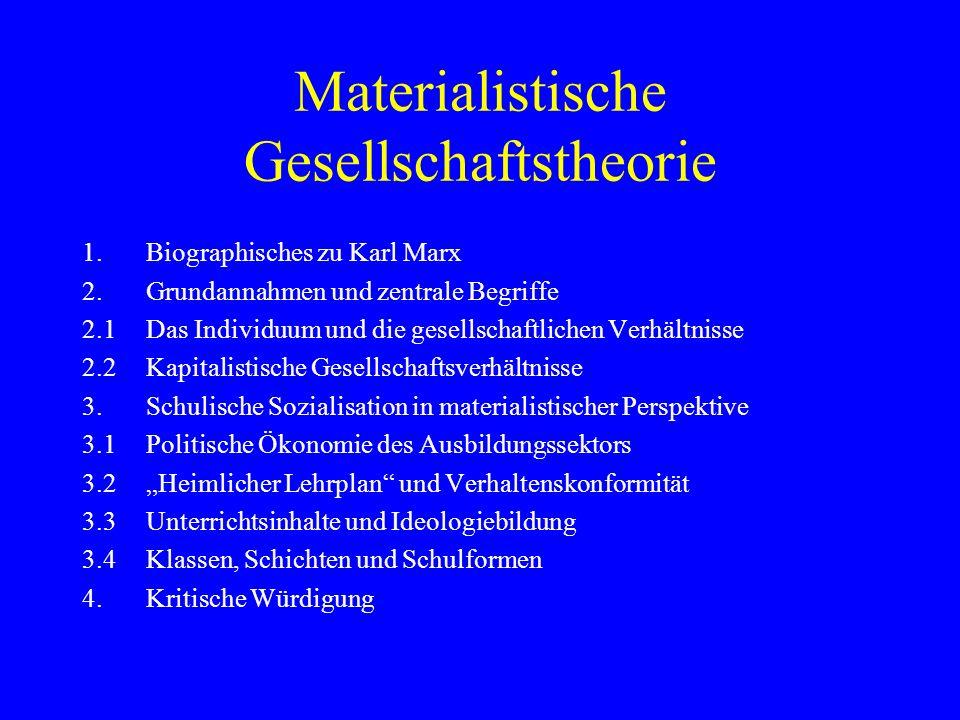 Materialistische Gesellschaftstheorie