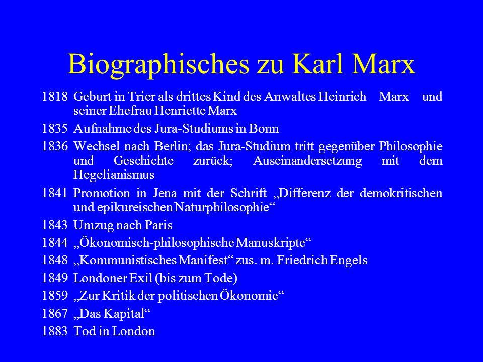 Biographisches zu Karl Marx