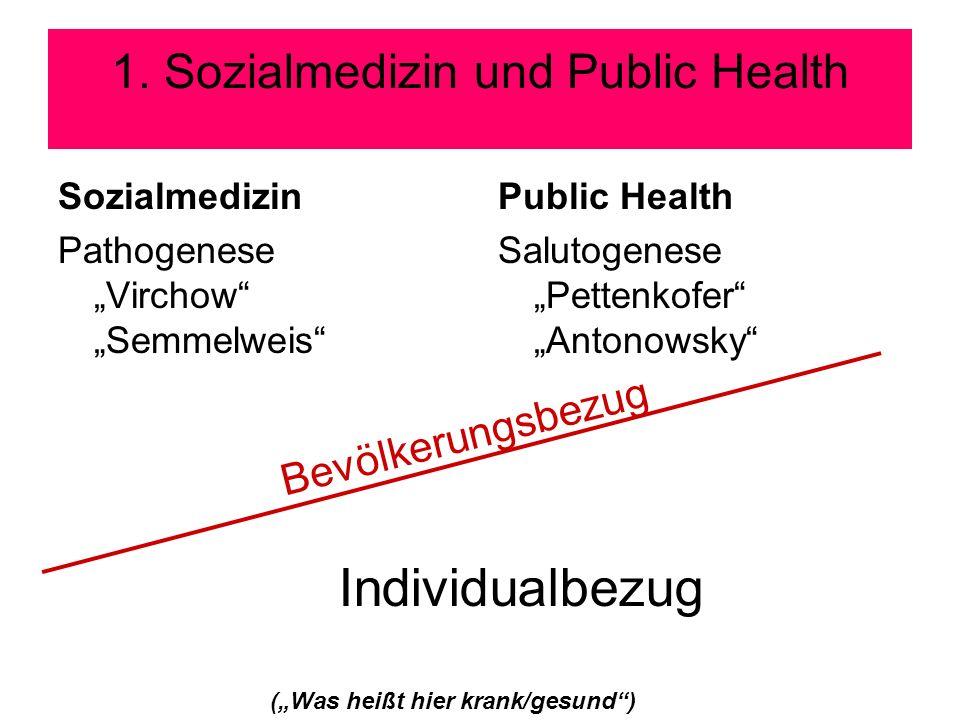 1. Sozialmedizin und Public Health
