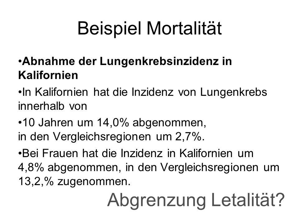 Beispiel Mortalität Abgrenzung Letalität