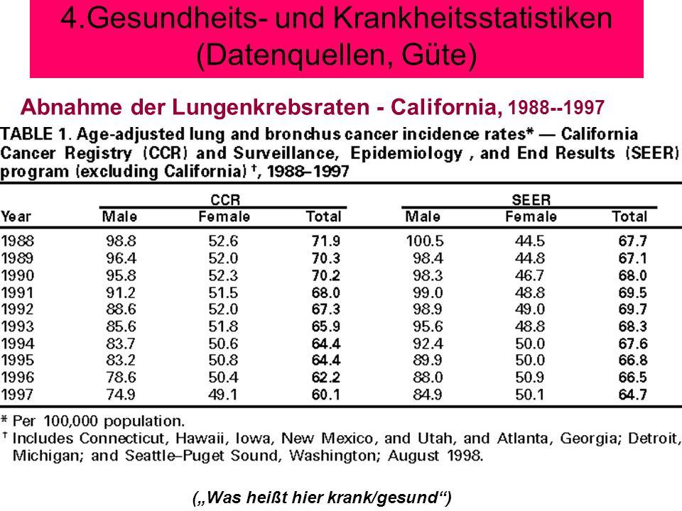 4.Gesundheits- und Krankheitsstatistiken (Datenquellen, Güte)