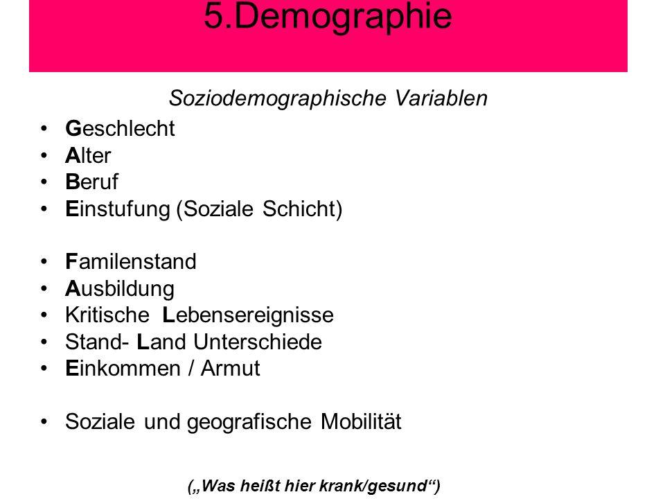 Soziodemographische Variablen