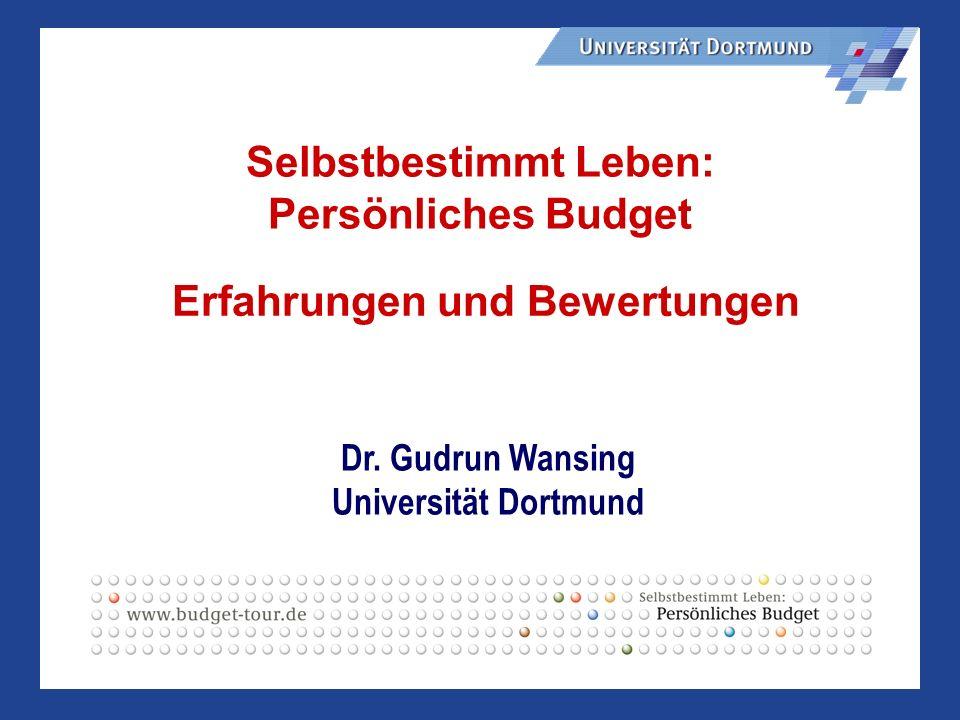 Selbstbestimmt Leben: Persönliches Budget