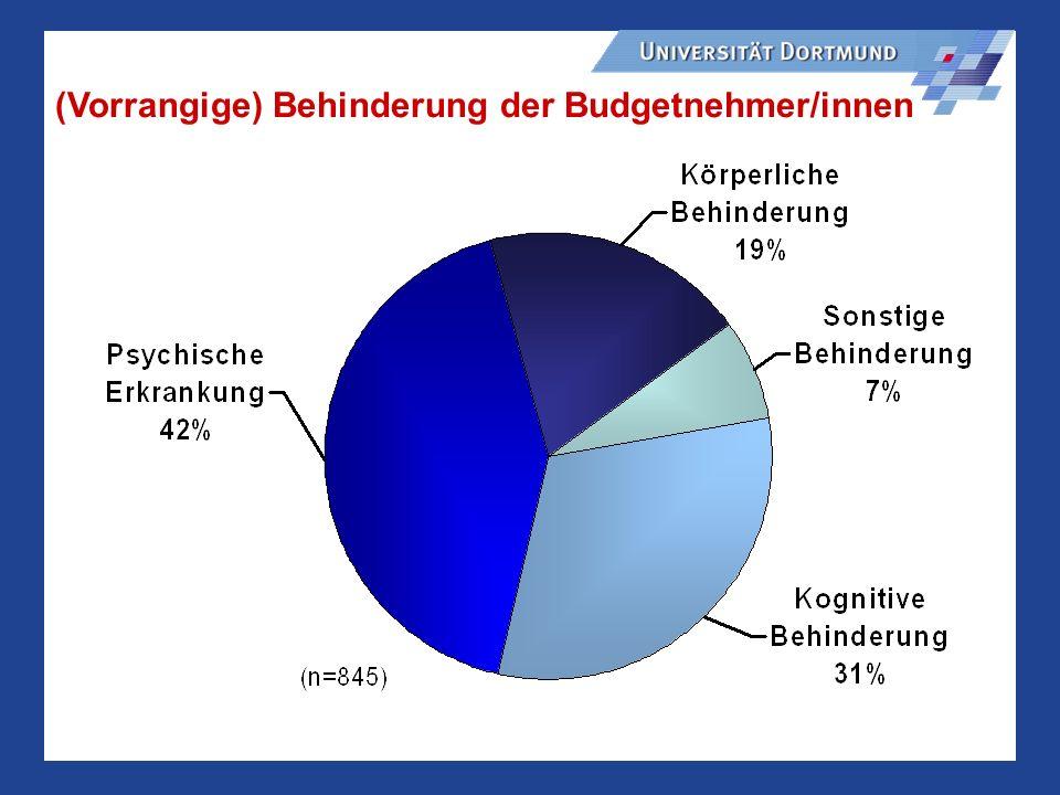 (Vorrangige) Behinderung der Budgetnehmer/innen
