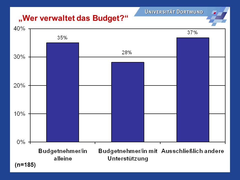 """""""Wer verwaltet das Budget"""