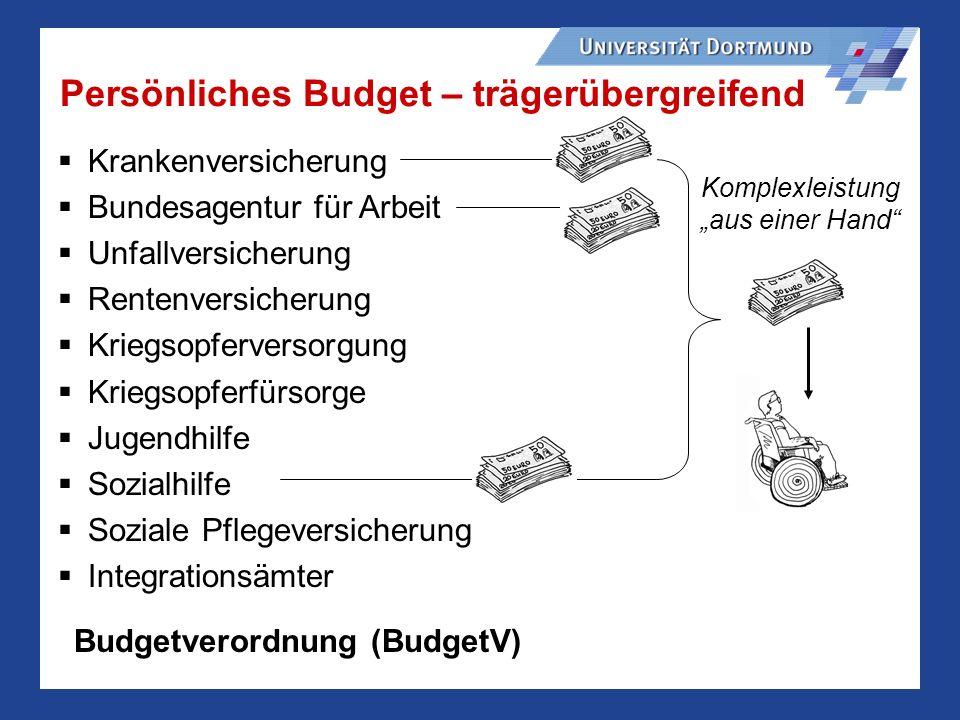 Persönliches Budget – trägerübergreifend