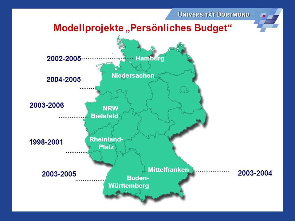"""Modellprojekte """"Persönliches Budget"""