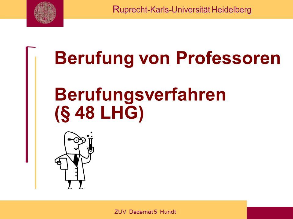 Berufung von Professoren Berufungsverfahren (§ 48 LHG)